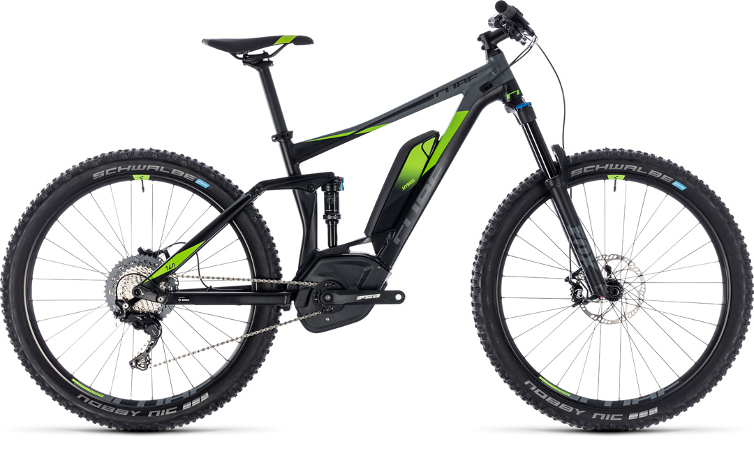 cube stereo hybrid 140 race 500 275 blackngreen 2018