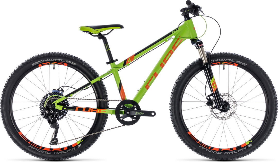 cube kid240 race greennorange 2018